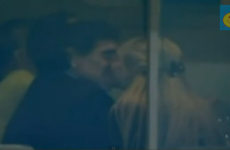 VIDEO: Diego Maradona is at Old Trafford tonight - and he's having a pretty good time