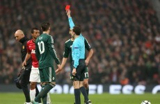 VIDEO: Luis Nani's controversial red card, Fergie's apoplectic reaction