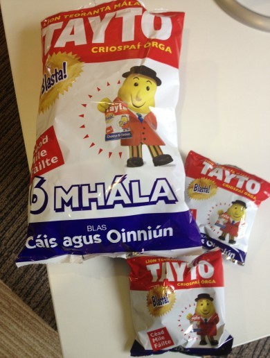 Retro As Gaeilge Crisps of the Day