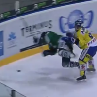 VIDEO: Ice hockey player left paralysed after hit into boards