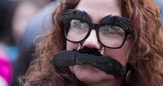 Here is the biggest crowd of fake moustaches you've ever seen