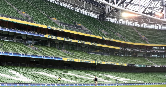 In pictures: Paddy Jackson gets in some late kicking practice on Captain's Run at Aviva Stadium