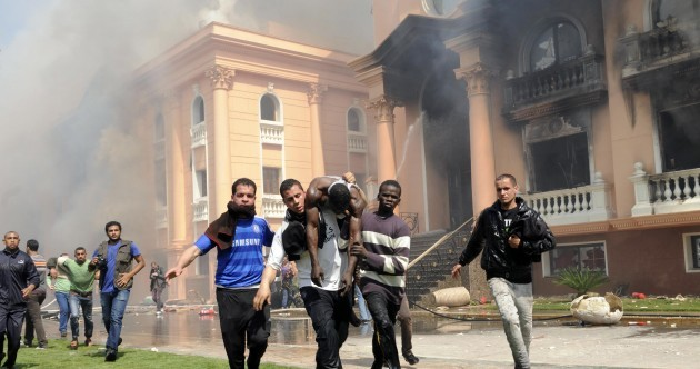 Snapshot: Chaos in Egypt as protesters torch FA building