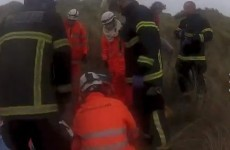VIDEO: Man rescued by Coast Guard after fall on Donabate beach