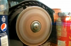 VIDEO: If you spin a CD really, really fast... you get a surprise