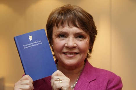 Ever wonder why the Constitution of Ireland comes in a blue book?