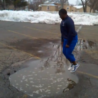 This is why you ALWAYS check before jumping into puddles