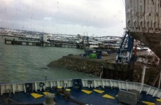 Passengers disembark ferry as injured crewman hospitalised