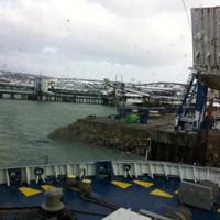 Passengers disembark ferry as injured crewman hospitalised