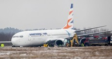 Stuck in the mud: Poland airport closes as plane skids off runway