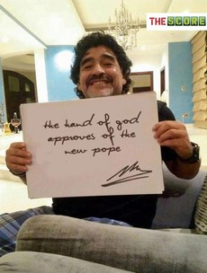 Diego Maradona gives new Pope his blessing*