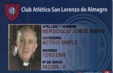 Is this the first time you've ever seen a Pope with a season ticket?