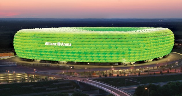 Bayern Munich's Allianz Arena is getting into the spirit of St Patrick's Day