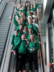 In Pictures: Ireland's Women's rugby team set off for Rome