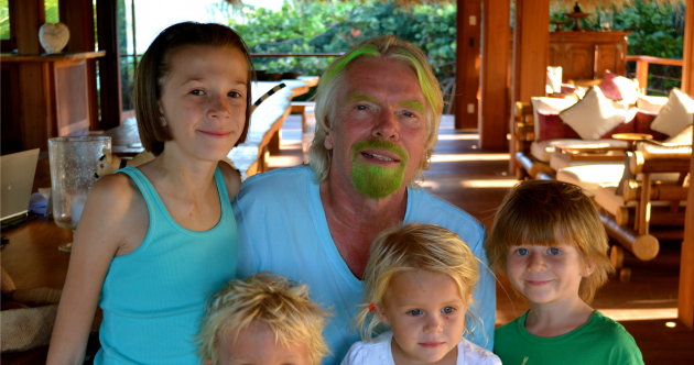 Pic: Richard Branson goes green for St Patrick's Day