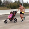 Terminal cancer patient runs marathon and wins... while pushing his daughter in a buggy