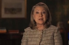Video: Hillary Clinton says she supports same-sex marriage