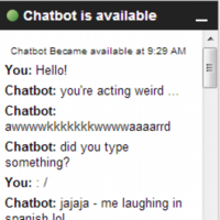 Awkward Chatbot basically sums up all your online conversations