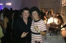 Caroline Wozniacki in a Rory McIlroy wig looks really like... erm, Rory McIlroy