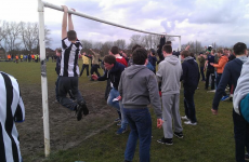 'Newcastle fans' disrupted game by dropping trou, damaging nets and goalposts