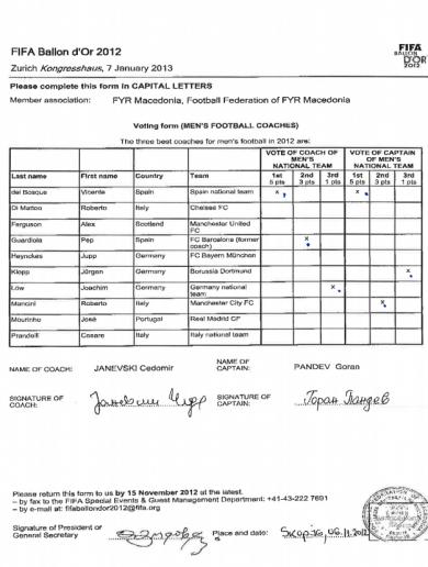 FIFA release Goran Pandev's ballot sheet in bid to prove he voted for del Bosque
