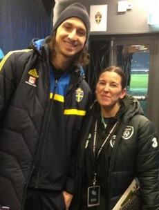 When Manuela met Zlatan...