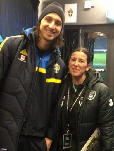 When Manuela met Zlatan...