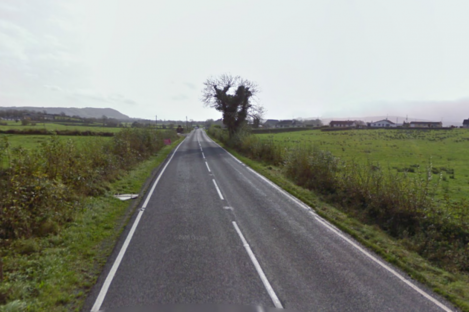 The A509 road between Derrylin and Enniskillen, in Co Fermanagh, where the viable device was discovered in the early hours of yesterday morning.