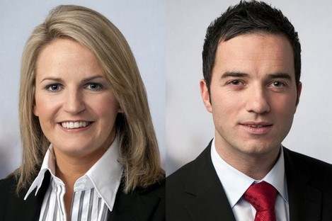 Lorraine Higgins and John Lyons of Labour: poll-toppers, apparently.