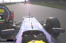 VIDEO: Mark Webber gives Sebastian Vettel the middle finger