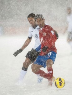 All white on the night? Costa Rica demand replay of snowy USA qualifier
