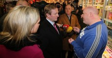 Pics: Taoiseach confronted by off-duty garda over public sector cuts