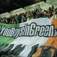 Irish supporters' group You Boys in Green come to the aid of mugged Austrian fans