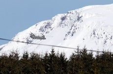 PICS: Snow-ice warning in place as Irish Air Corps aids NI snowbound livestock