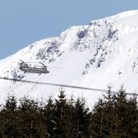 PICS: Snow-ice warning in place as Irish Air Corps aids NI snowbound livestock