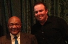 George Foreman met Shane Lowry last night and asked him for a photo*