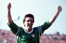 VIDEO: Bernie Slaven blasted in this debut goal for Ireland 23 years ago today