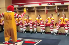 Nobody gives pre-match pep talks like Ronald McDonald