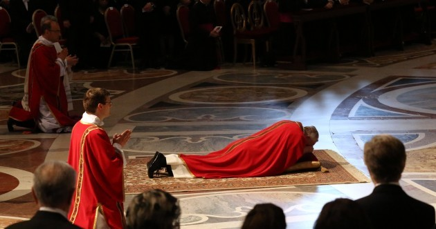 Pope Francis presides over his first Good Friday ceremony