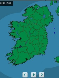 Look! Quick! It's not raining ANYWHERE in Ireland right now