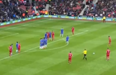 VIDEO: Chelsea are losing because of this perfect Rickie Lambert free kick
