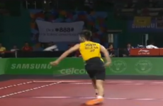 VIDEO: An outrageous behind-the-back badminton shot