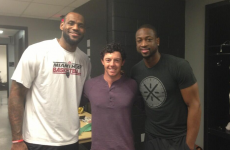 Oh look, there's Rory McIlroy hanging out with LeBron and D-Wade