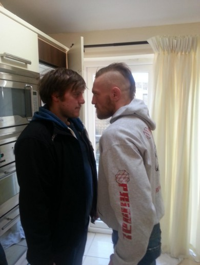 Snapshot: Fran The Man stands toe-to-toe with UFC fighter Conor McGregor