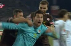 VIDEO: We hope you enjoy this late goal from the St Pauli goalkeeper as much as we do