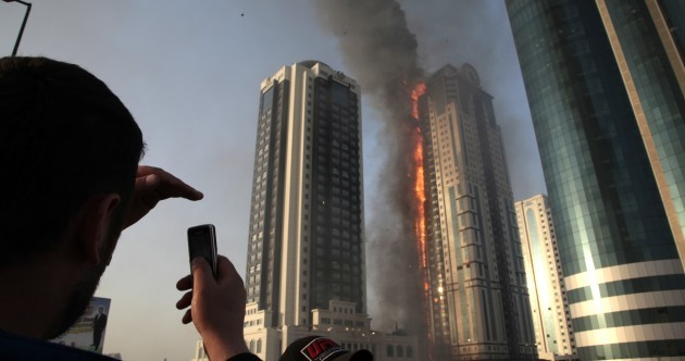 Massive fire rages in Grozny skyscraper near Depardieu apartment