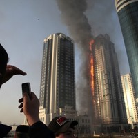 Massive fire rages in Grozny skyscraper near Depardieu apartment
