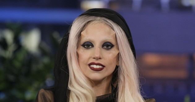 Lady Gaga's latest look: freaky facial furniture