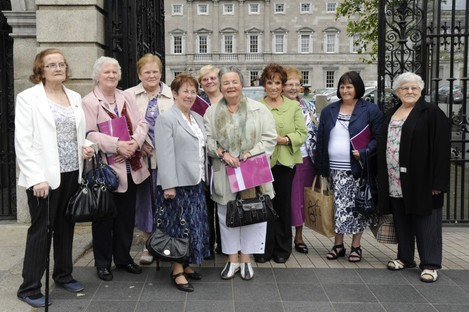 Members of the Survivors of Symphysiotomy campaign group (file photo).
