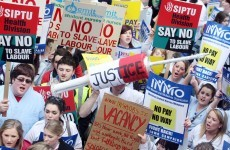 Student nurses protest over plans to cut pay for placements